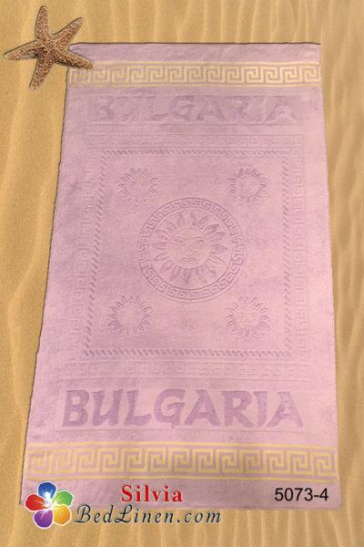 Плажна кърпа България - светло лилава